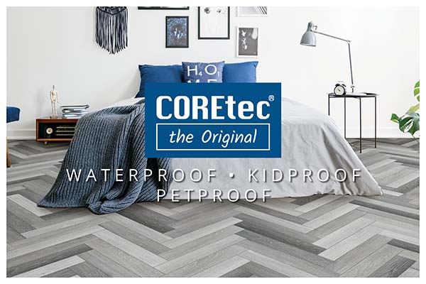 COREtec floors create stunning wood-looks and stone-looks at the fraction of the price at Best Flooring Center.